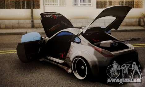 Nissan 350z Angel Beast Itasha Edition para GTA San Andreas vista hacia atrás