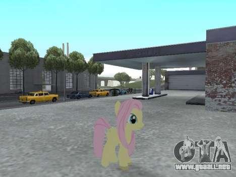 Fluttershy para GTA San Andreas sucesivamente de pantalla