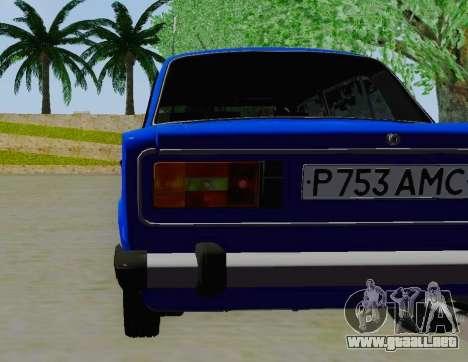 VAZ 21061 para GTA San Andreas vista hacia atrás