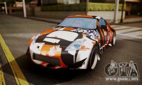 Nissan 350z Angel Beast Itasha Edition para visión interna GTA San Andreas
