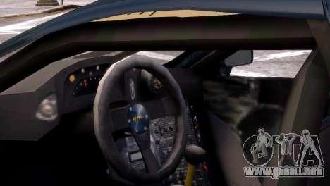 McLaren F1 GTR para GTA 4 Vista posterior izquierda