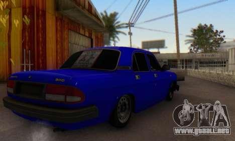 GAZ 3110 Volga LT para GTA San Andreas vista posterior izquierda