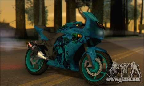 Kawasaki Ninja 250 RR Highschool DxD para GTA San Andreas vista posterior izquierda
