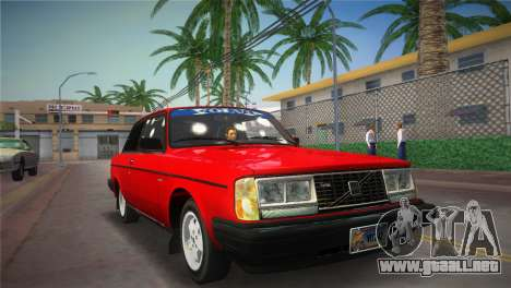 Volvo 242 Turbo Evolution para GTA Vice City vista lateral izquierdo