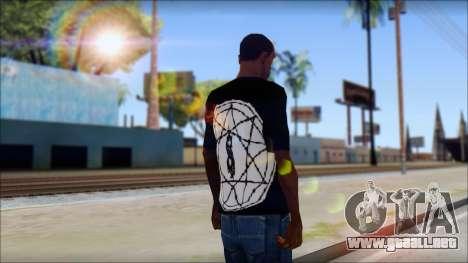SlipKnoT T-Shirt mod para GTA San Andreas segunda pantalla