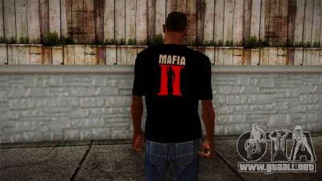 Mafia 2 Black Shirt para GTA San Andreas segunda pantalla