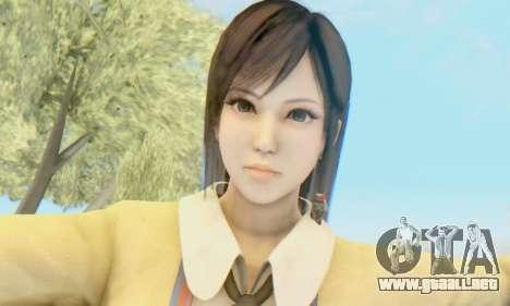 Kokoro wearing a school uniform (DOA5) para GTA San Andreas