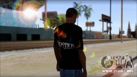 Godsmack T-Shirt para GTA San Andreas tercera pantalla