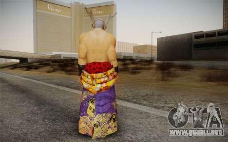 Heihachi Mishima v2 para GTA San Andreas segunda pantalla