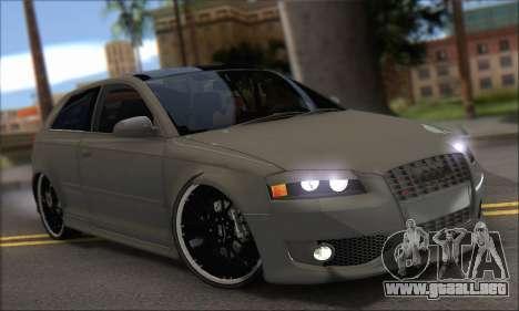 Audi S3 2006 Custom para la visión correcta GTA San Andreas