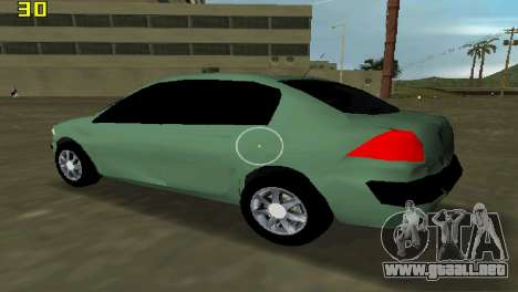 Renault Megane Sedan 2001 para GTA Vice City vista lateral izquierdo