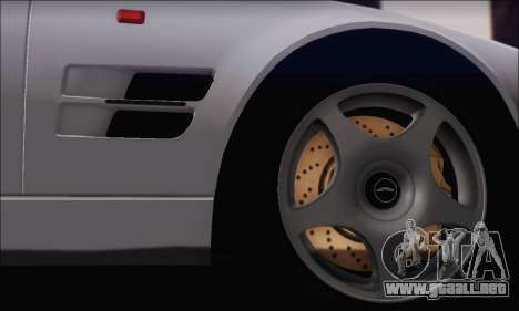 Aston Martin V8 Vantage V600 1998 para GTA San Andreas vista hacia atrás