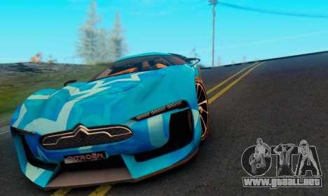 Citroen GT Blue Star para visión interna GTA San Andreas