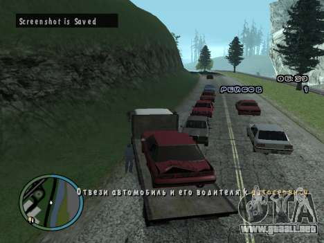 Evacuador de v1.0 para GTA San Andreas sexta pantalla