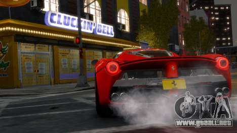 Ferrari LaFerrari WheelsandMore Edition para GTA 4 Vista posterior izquierda