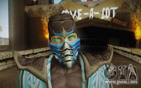 Sub Zero Skin v2 para GTA San Andreas tercera pantalla