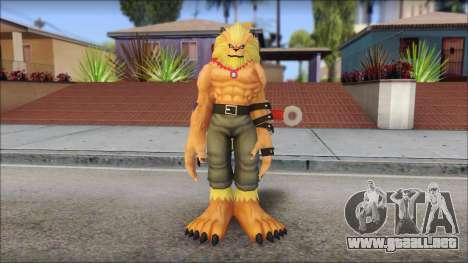 Leomon para GTA San Andreas segunda pantalla