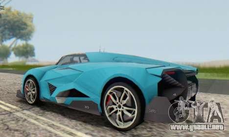 Lamborghini Egoista Concept 2013 para GTA San Andreas vista hacia atrás