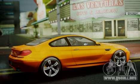 BMW M6 F13 2013 para visión interna GTA San Andreas