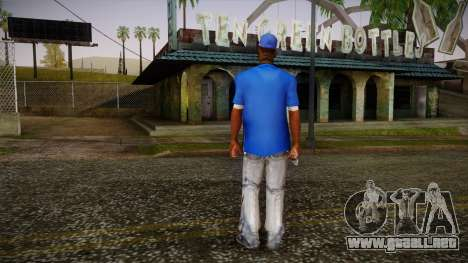 Sweet Blue Skin para GTA San Andreas segunda pantalla