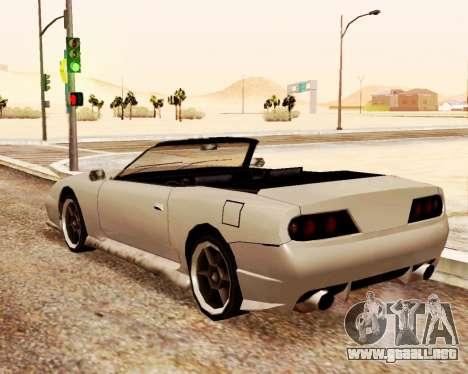 Bufón Convertible para GTA San Andreas vista hacia atrás