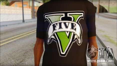 GTA 5 T-Shirt para GTA San Andreas tercera pantalla