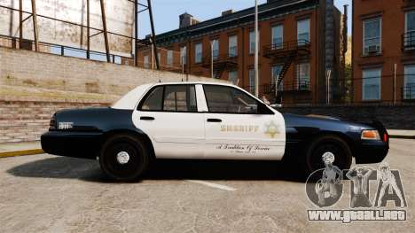 Ford Crown Victoria Sheriff [ELS] Slicktop para GTA 4 left