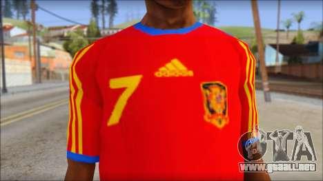 Spanish Football Shirt para GTA San Andreas tercera pantalla