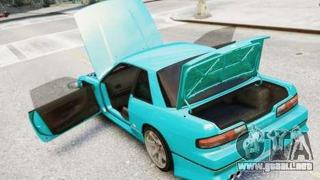 Nissan Silvia S13 v1.0 para GTA 4 vista hacia atrás