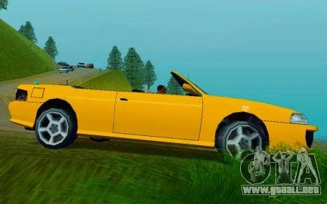 Sultan Сabriolet v2.0 para GTA San Andreas vista posterior izquierda