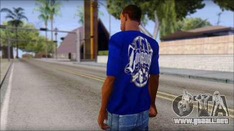 Lowrider Blue T-Shirt para GTA San Andreas segunda pantalla