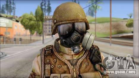 Desert GIGN from Soldier Front 2 para GTA San Andreas tercera pantalla