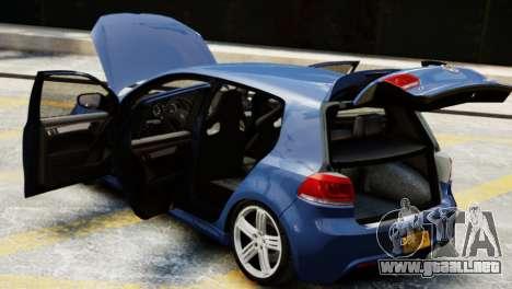 Volkswagen Golf R 2010 para GTA 4 vista hacia atrás