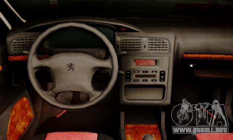 Peugeot Pars Limouzine para GTA San Andreas vista posterior izquierda