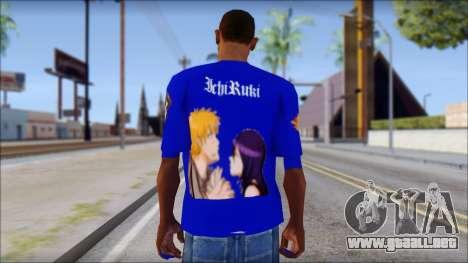 IchiRuki T-Shirt para GTA San Andreas segunda pantalla