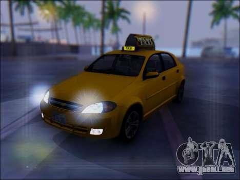 Chevrolet Lacetti Taxi para la vista superior GTA San Andreas