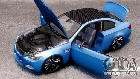 BMW M3 E92 para GTA 4 visión correcta