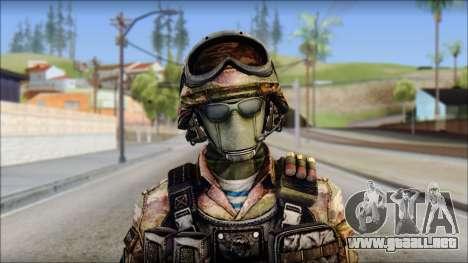 Forest GRU from Soldier Front 2 para GTA San Andreas tercera pantalla