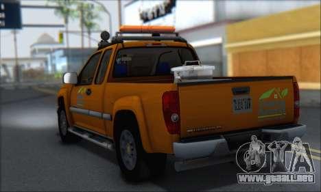 Chevrolet Colorado Cleaning para GTA San Andreas left