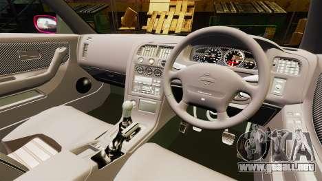 Nissan Skyline R33 1995 para GTA 4 vista hacia atrás