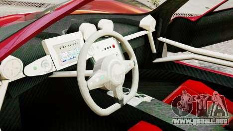 Pagani Zonda Autosport para GTA 4 visión correcta
