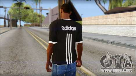 Adidas Black T-Shirt para GTA San Andreas segunda pantalla