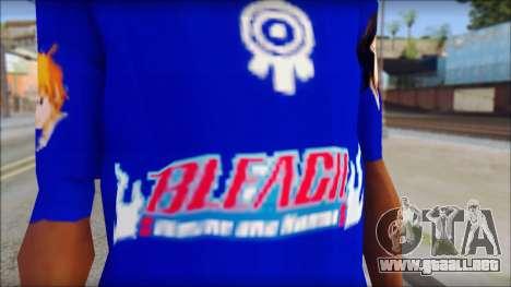 IchiRuki T-Shirt para GTA San Andreas tercera pantalla