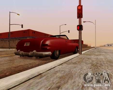 Hermes Convertible para GTA San Andreas vista posterior izquierda