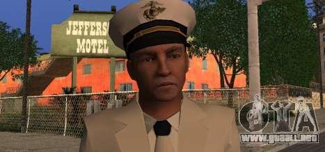 Navy Officer para GTA San Andreas tercera pantalla