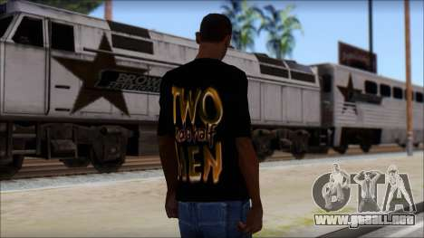 Two and a half Men Fan T-Shirt para GTA San Andreas segunda pantalla