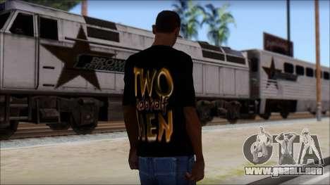 Two and a half Men Fan T-Shirt para GTA San Andreas segunda pantalla