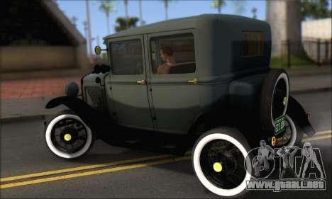 Ford T 1927 para GTA San Andreas vista posterior izquierda
