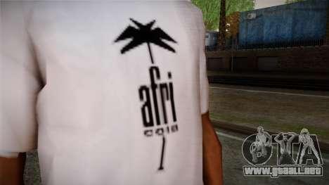 Afri Cola White Shirt para GTA San Andreas tercera pantalla