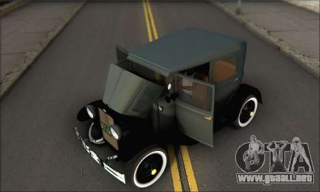 Ford T 1927 para visión interna GTA San Andreas